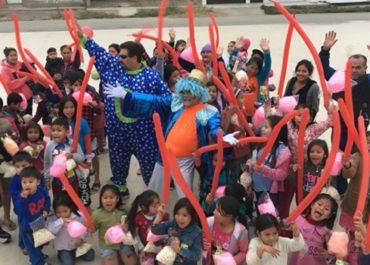 LATET Perú organizó un Día de Circo para alegrar a los niños de Chilca